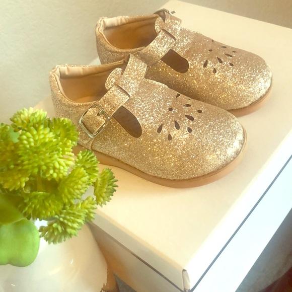 promo code a few days away online shop the doll maker Shoes | Gold Glitter Toddler Tstrap Dress Shoe ...